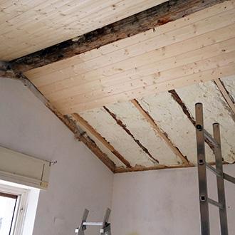 Isolamento interno di un tetto in legno - Isolare tetto dall interno ...